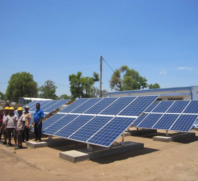 Image of solar plant at Itofaka, Madagascar