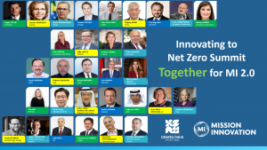 Mission Innovation launches a decade of clean energy innovation to accelerate achieving the Paris Agreement Goals